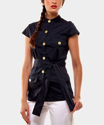 Navy Portobello Button-Up