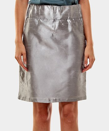 Gray Seda Sheath Skirt