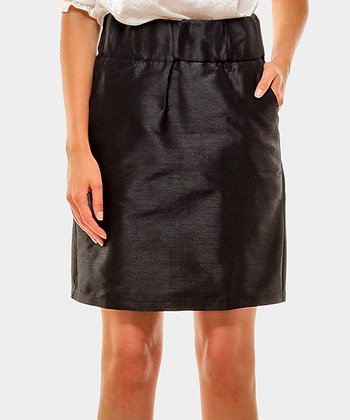 Black Seda Sheath Skirt