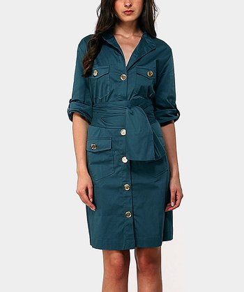 Aqua Portobello Three-Quarter Sleeve Dress