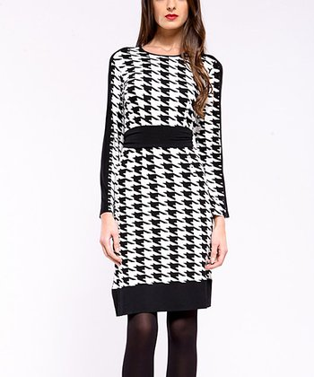 Black & White Houndstooth Manchester Dress