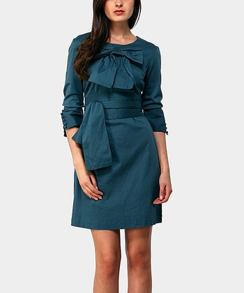 Blue Bobby Three-Quarter Sleeve Dress