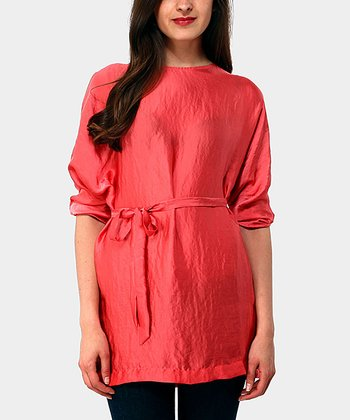 Coral Blonde Three-Quarter Sleeve Top