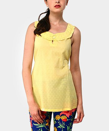 Yellow Soprano Sleeveless Top