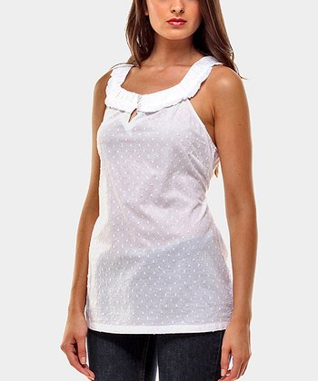 White Soprano Sleeveless Top