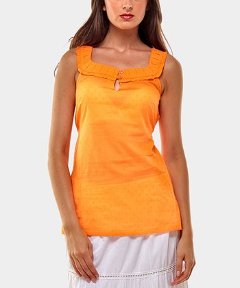 Orange Soprano Sleeveless Top