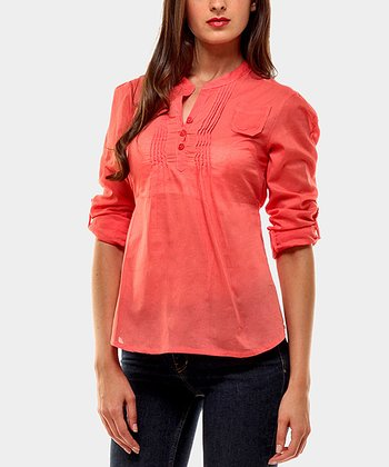 Coral Harrison Three-Quarter Sleeve Top