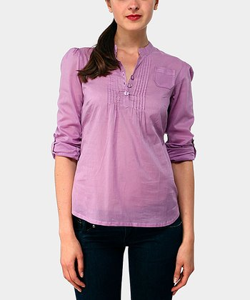 Lilac Harrison Three-Quarter Sleeve Top