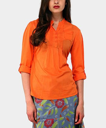 Orange Harrison Three-Quarter Sleeve Top