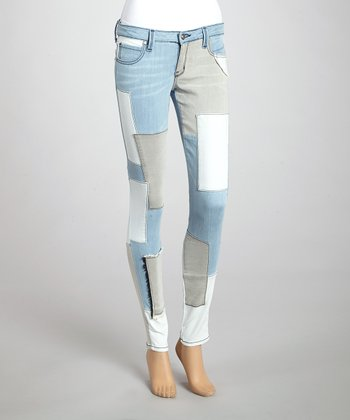 Frankie B Faded Blue Recluse Skinny Jeans