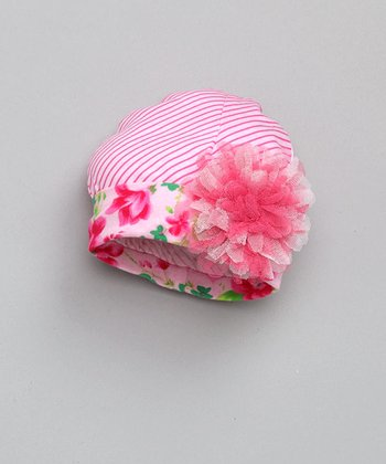 Pink Pin Stripe Beanie - Infant