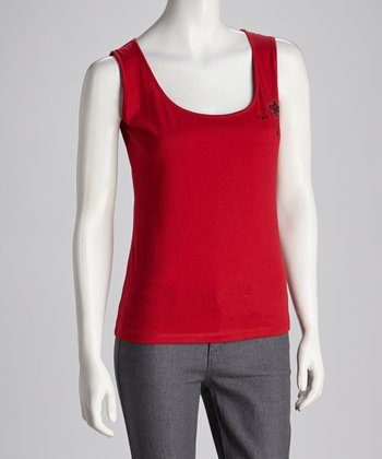 Red Flower Tank - Women
