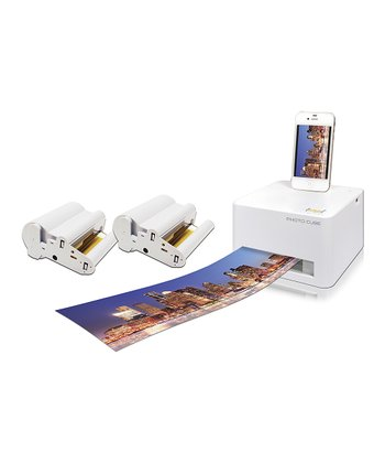 VuPoint Photo Cube Compact Photo Printer & Three Cartridges