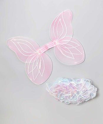 White Tutu & Pink Wings