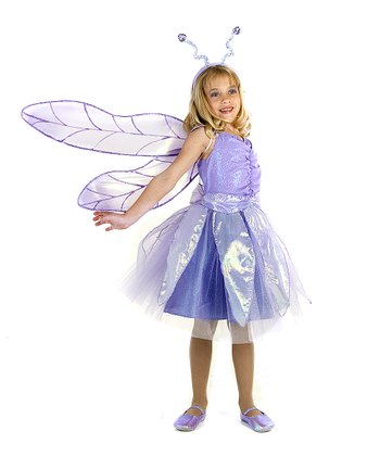 Lavender Gracie Dragonfly Dress-Up Set - Girls