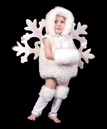 White Snowflake Dress-Up Set - Infant