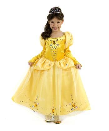 Yellow Jeweled Princess Dress - Girls