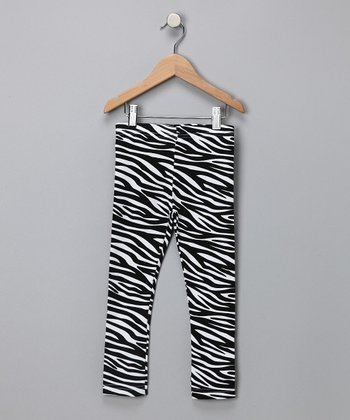 Zebra Leggings - Infant, Toddler & Girls