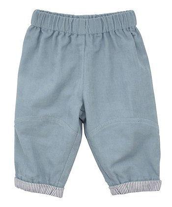 Dusty Blue Corduroy Cuffed Pants - Infant