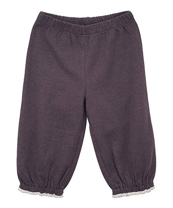 Coffee Gathered Ankle Pants - Infant