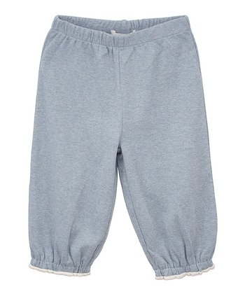Dusty Blue Organic Gathered Ankle Pants - Infant