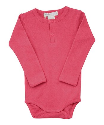 Pink Henley Bodysuit - Infant