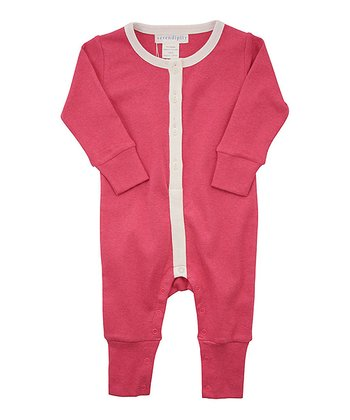 Pink Button Playsuit - Infant