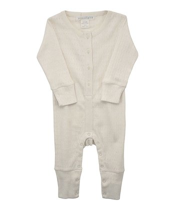 Ecru Button Playsuit - Infant