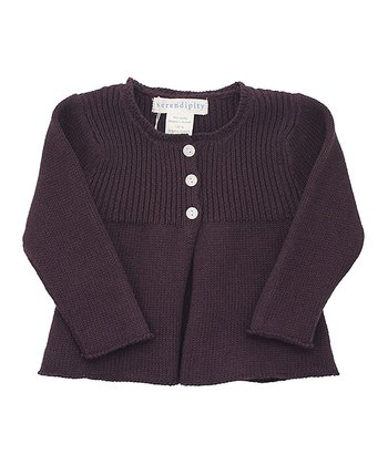 Coffee Babydoll Cardigan - Infant