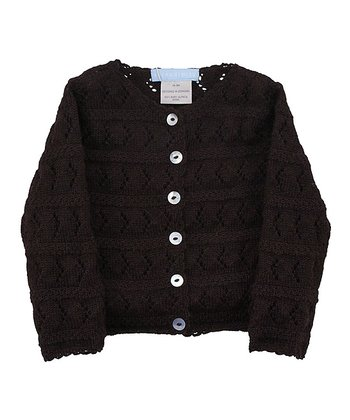 Coffee Crocheted Cardigan - Infant