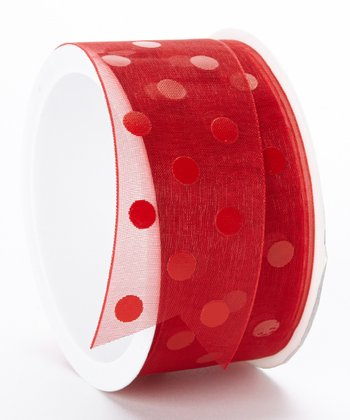 Red Dots Ribbon - Set of Three