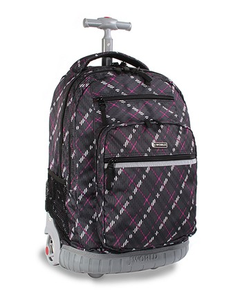 Preppy Purple Sundance Wheeled Backpack