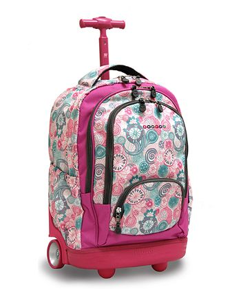 Blue Raspberry Sunbeam Wheeled Backpack