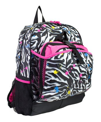 Black & Pink Zebra Backpack & Lunch Bag
