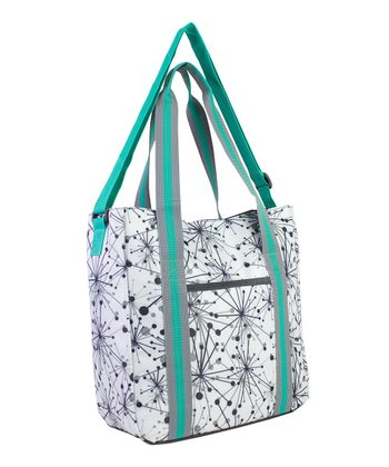 Gray & Aqua Burst Laptop Tote