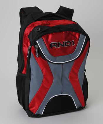 Red & Gray AND1 Backpack