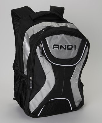 Silver & Black AND1 Backpack
