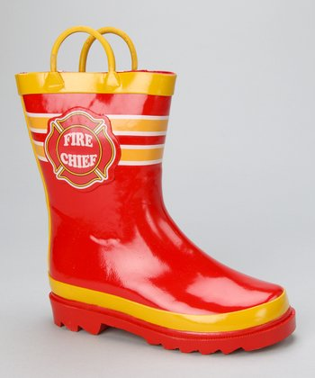 Red Fire Chief Boot