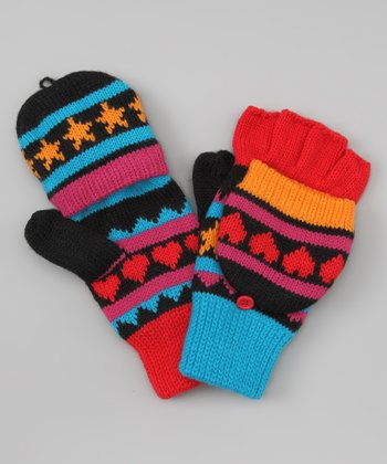 Blue Hit Points Convertible Mittens