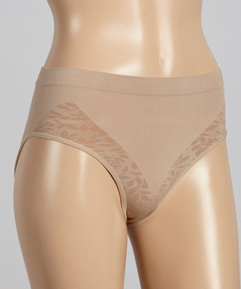 Nude Leaf Shaper Mid-Rise Briefs - Women & Plus