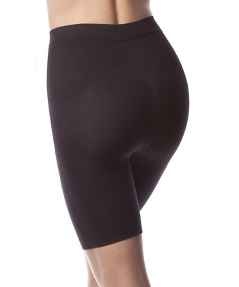 Black Mid-Rise Shaper Shorts - Women & Plus