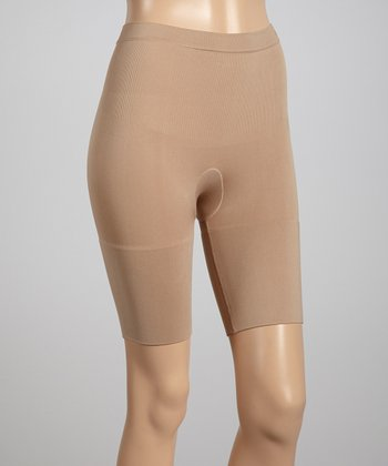 Nude Mid-Rise Shaper Shorts - Women & Plus