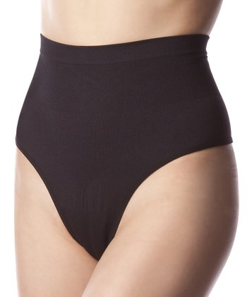 Black High-Waist Shaper Thong - Women