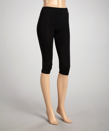 Black Shaper High-Waisted Capri Pants