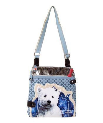Blue West Highland White Terrier Crossbody Bag