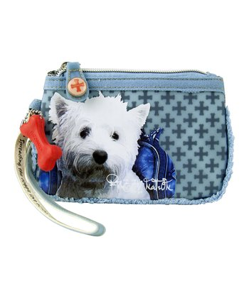 Blue West Highland White Terrier Wrist Wallet