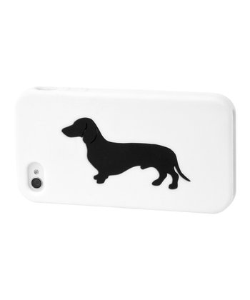 White Dachshund Case for iPhone 4/4S