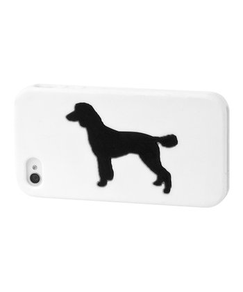 White Standard Poodle Case for iPhone 4/4S