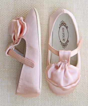 Pink Satin Amelie Mary Jane - Kids