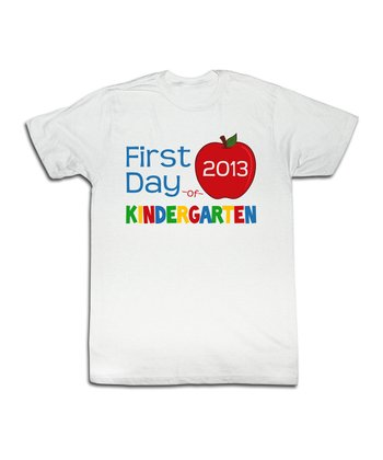 White Kindergarten Tee - Toddler & Kids